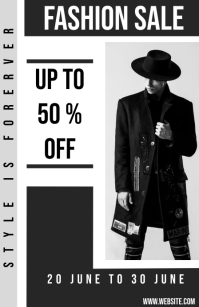 Fashion flyer Tabloide template
