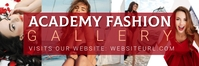 fashion Gallery Twitter cover template