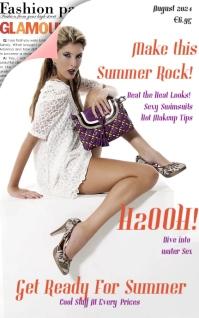 Fashion Glamour Magazine Cover