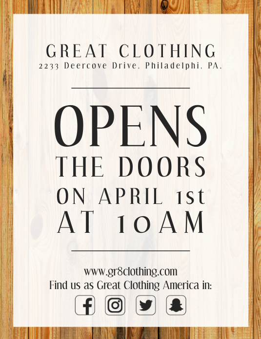 fashion grand opening event flyer template postermywall