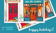 Fashion Happy Holidays Tanda template
