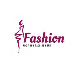 Fashion icon logo design template