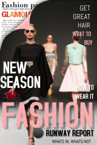 Fashion Magazine Cover Poster template
