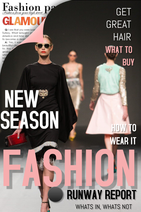 Fashion Magazine Cover Template Postermywall