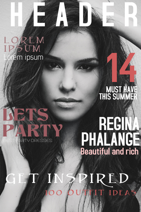Fashion Magazines Nyc: Fashion Magazine Cover Template
