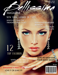 Customizable Design Templates For Fashion Magazine Cover Page Postermywall
