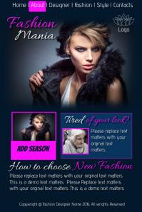 Fashion Mania Website Template