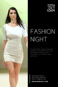 Fashion Night Flyer Design Template