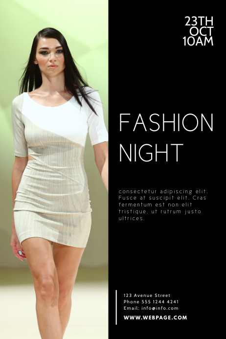 Fashion Night Flyer Design Template