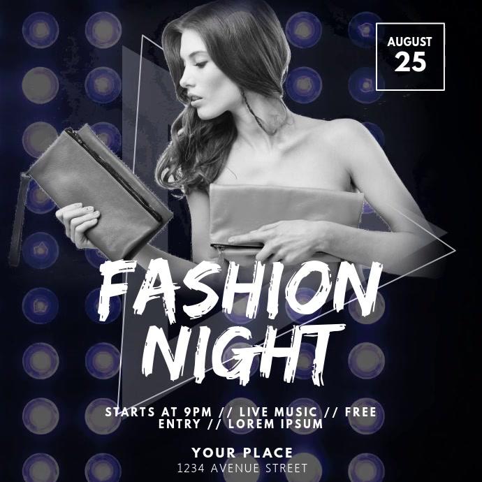 Fashion Night video design template