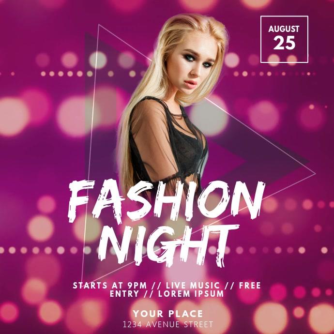 Fashion Night video design template Quadrat (1:1)