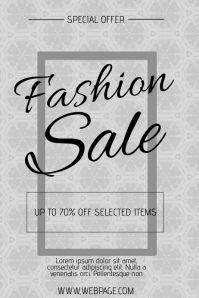 fashion or beauty sale poster