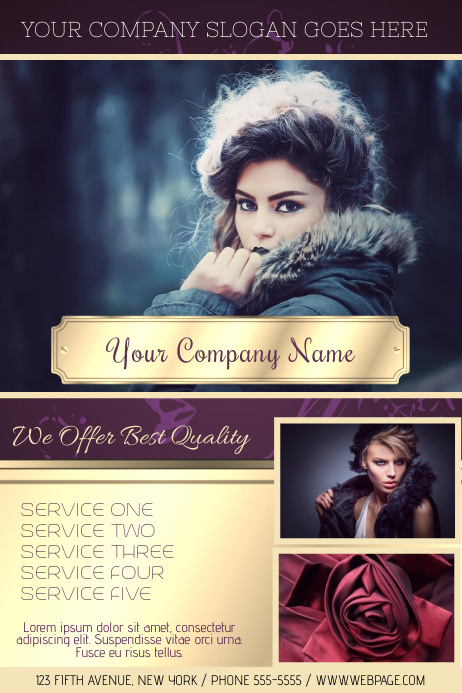 Copy Of Fashion Or Beauty Salon Flyer Template