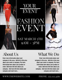 FASHION Flyer (US Letter) template