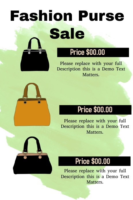 Fashion Purse Sale | PosterMyWall