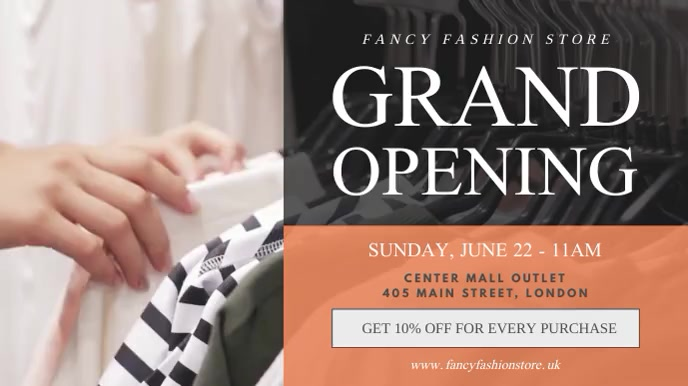 Fashion Retail Grand Opening Digital Display Video