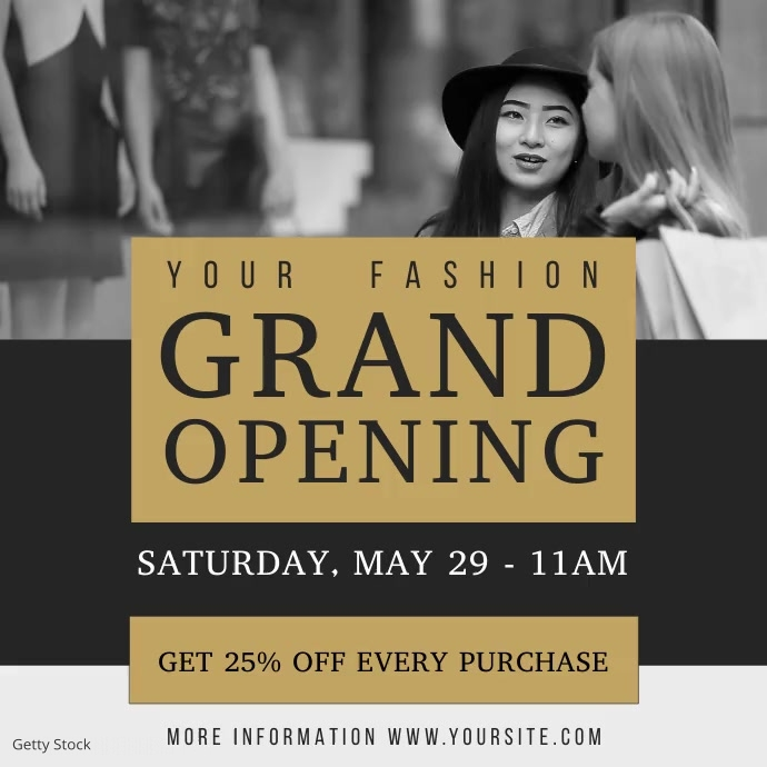 Fashion Retail Grand Opening Square Video Persegi (1:1) template