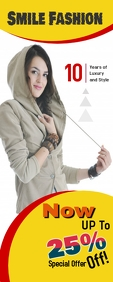 Fashion Roll Up Banner template