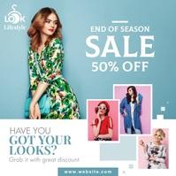Fashion Sale, Big Sale, Year End Sale Instagram Post template