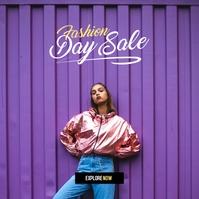 Fashion Sale Ad Album Cover template