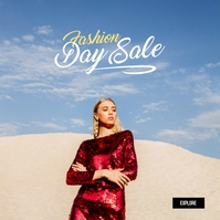 Fashion Sale Ad Album Cover template