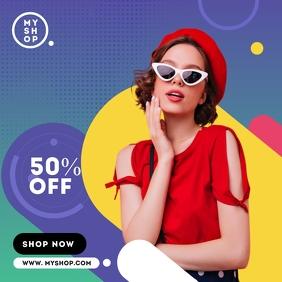 Fashion Sale Ad Template Instagram-bericht