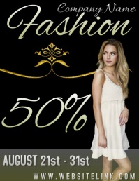 fashion sale AD VIDEO/SOCIAL MEDIA Flyer (US Letter) template