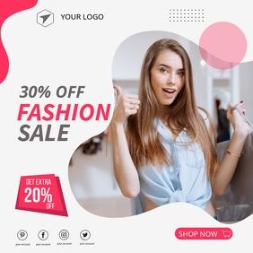 Fashion sale advert flyer promo, Fashion sale Publicação no Instagram template
