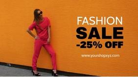 Fashion Sale Advert Shopping Discount Promo Model Wall Promo