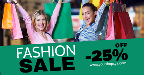 Fashion Sale Advert Shopping Discount Promo Model Wall Promo template
