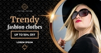 FASHION SALE BANNER delt Facebook-billede template