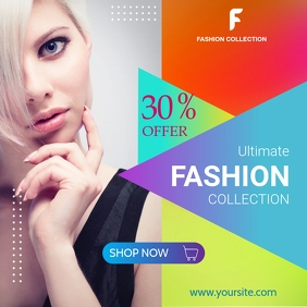 Fashion Sale Banner โพสต์บน Instagram template