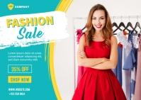 Fashion Sale Banner Template Postcard