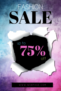Fashion sale Flyer Template Colorful