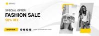 fashion sale Cover na Larawan ng Facebook template