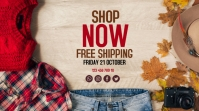 Fashion sale YouTube Channel Cover Photo template
