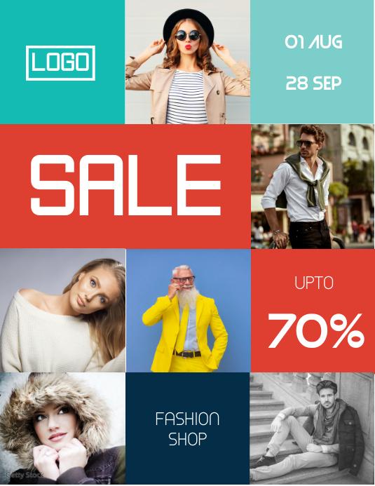 Fashion Sale Discount Flyer Template Løbeseddel (US Letter)