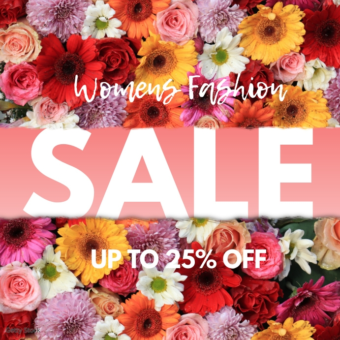 Fashion Sale Discount Special Offer Deal Promotion Ad Flower
