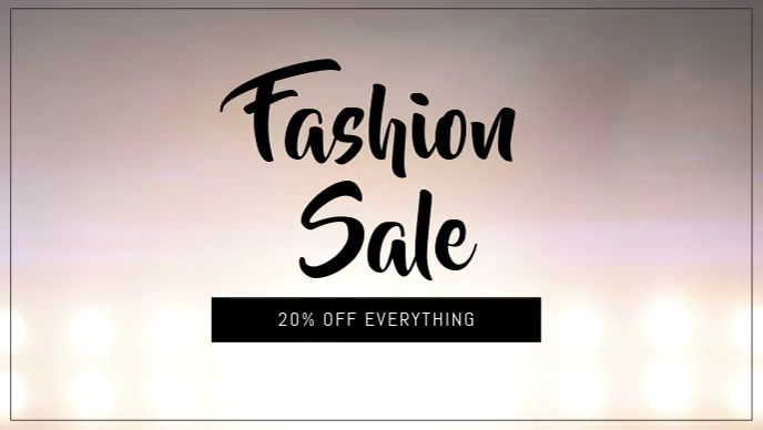 Fashion sale facebook cover video template