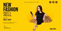 Fashion sale facebook event cover template