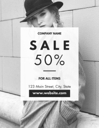 fashion sale flyer advertisement cutomizable template