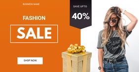 Fashion sale flyer delt Facebook-billede template