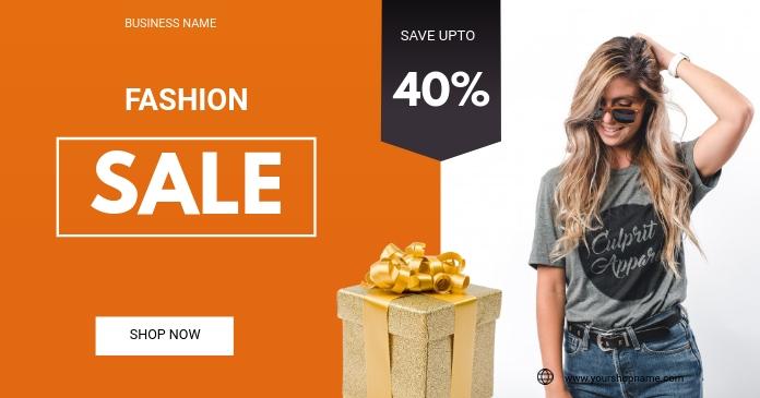 Fashion sale flyer delt Facebook-billede template
