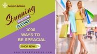 fashion sale flyer Twitter-bericht template