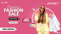 fashion sale flyer Twitter Post template