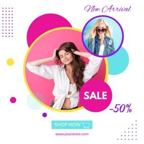 Fashion Sale Flyer template Instagram-Beitrag