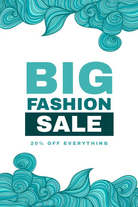 Fashion sale flyer template