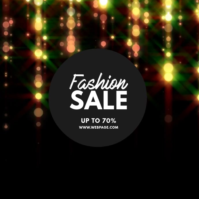 Fashion sale instagram template
