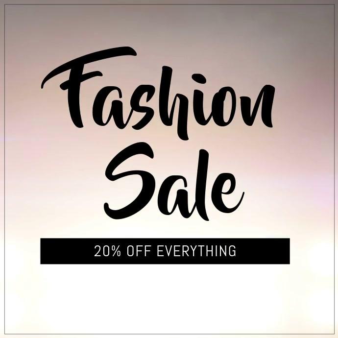 Fashion sale Instagram video template