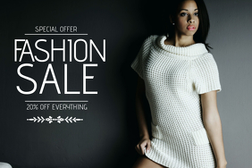 fashion sale flyer template landscape
